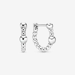 Pandora A string of Beads Hoop Earrings